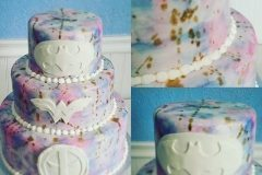 colourful wedding cake Saskatoon