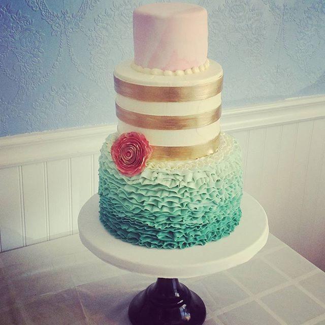 colorful wedding cake Saskatoon