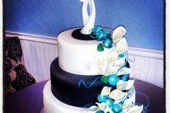 modern wedding cake Saskatoon